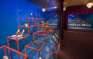 2. Installation view of Shoes Pleasure and Pain, 13 June 2015 - 31 January 2016 (c) Victoria and Albert Museum, London
